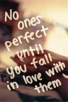 No one's perfect...