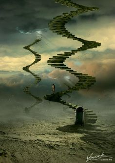 Surreal Digital Art by Belarus based artwork Max Mitenkov.