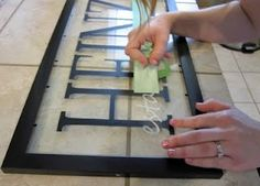 craft vinyl projects | Crafts, DIY, Projects / framed vinyl lettering