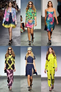 House of Holland's S/S 2013 collection. 90s neon brights.
