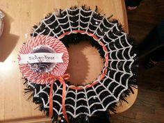 Stampin' Up! Frightful Wreath by Melissa Davies @ rubberfunatics
