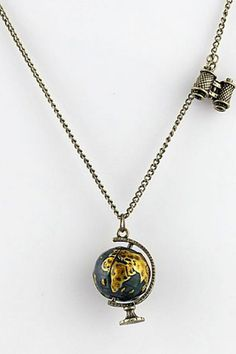 ROMWE | Earth Pendant Necklace, The Latest Street Fashion