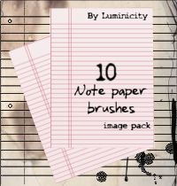 Note paper brushes by luminicity.deviantart.com