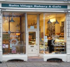 Love the tall windows! Lots of space to show off those pastries and a great way to attract customers. The old fashioned feel is also helpful.
