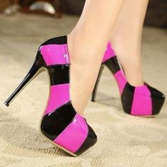 Black and pink high hell #shoes