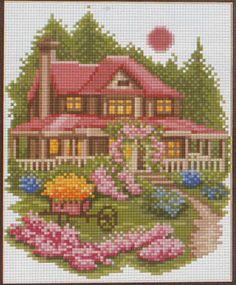 Схемы вышивки крестом дома 46