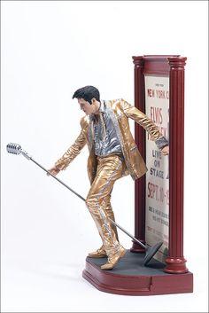 "Elvis Presley 1956 in Gold by McFarlane — 6"" (15.24cm) tall"