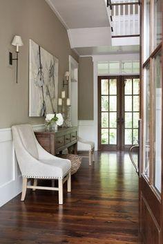 wall colors, chair, floor, door, foyer, paint colors, hallway, benjamin moore, entryway