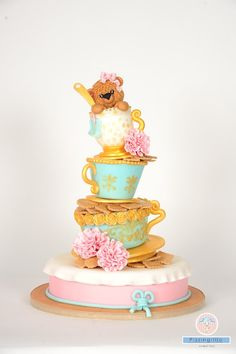 My favorite cake...the bear in the cup! - by PizzingrilloParty @ CakesDecor.com - cake decorating website