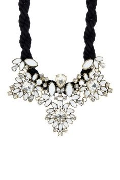 White Statement Rope Necklace by t+j Designs on @HauteLook