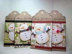Snowman Christmas Tags