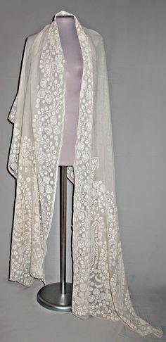 Shawl. Cotton muslin. India, circa1808.