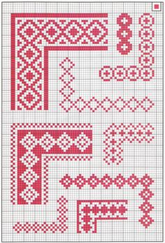 1. simple border made of diamond outlines.... to the lower right of the thick one on top