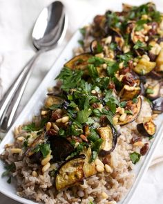 Roasted Eggplant with Pine Nuts & Raisins