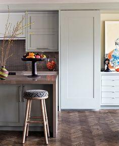 floor, design trends, cabinet colors, sliding barn doors, hous, soft colour, kitchen designs, sliding doors, kitchen cabinets