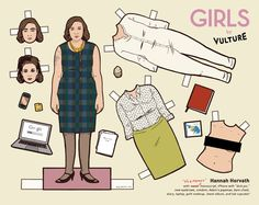 """Print Out Vulture's """"Girls"""" Paper Dolls."""