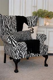 zebra chair @Sharon