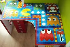 Tutorial: pacman mosaic desk #geek #gaming #diy #crafts