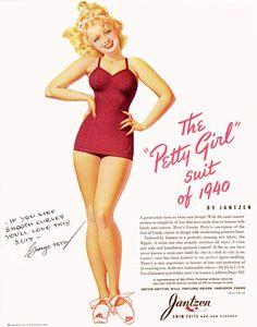 Jantzen Swimwear Ad for the Petty Girl Suit, 1940 by Navybrat22, via Flickr