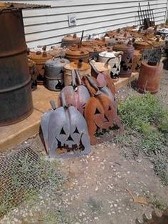 Recycle, Reuse, Rethink, Repurpose-Gas Can & old barn shovels Jack-O-Lantern at Gold'n Country Gifts llc, Facebook