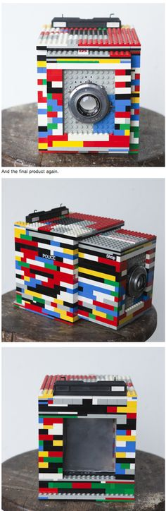 """Cary Norton created a working large format camera out of LEGOS. Dubbed """"LEGOTRON"""" the camera features a 127mm ƒ4.7 I he picked up on eBay for $40."""