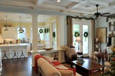 Traditional living rm Craftsman style home - Houzz