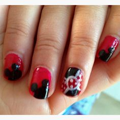 minnie mouse nails (3)