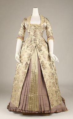Evening dress, 1878-80 US, the Met Museum