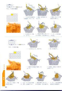 Условные обозначения вязания для спиц в японских схемах