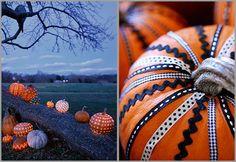 11 pumpkin, autumn, fall crafts, decorating ideas, halloween pumpkins, ribbon, pumpkin decorating, holiday decor, decor idea