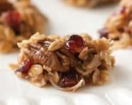 Granola Drops (Tupperware recipe)  6 T. butter  ¼ c. plus 2 T.brown sugar, packed  ½ c. sweetened shredded coconut  ½ t. Simple Indulgence™ Cinnamon-Vanilla Seasoning  ½ c. toasted nuts, walnuts or pecans  ½ c. dried cranberries  1 c. oatmeal  4 T. honey   Place butter and brown sugar in the TupperWave® 1¾-Qt Casserole and microwave uncovered on high for 1 minute, or until melted, stir to combine. Add the remaining ingredients and stir until well coated and mixed. Microwave on high