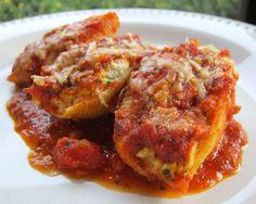 Chicken and Pesto Stuffed Shells | Plain Chicken