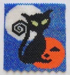 Halloween Cat Pendant Bead Pattern at Sova-Enterprises.com