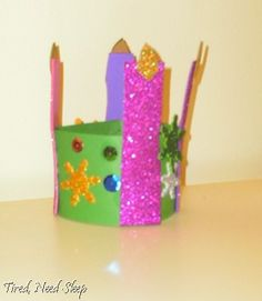 Advent Wreath Craft: simple but creative. Cardstock/foam cut outs, and anything to color/decorate!
