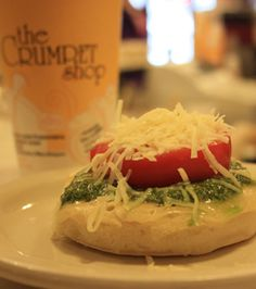 The Crumpet Shop in the Pikes Place Market area! Will and I loved the pesto, tomato and parmesan crumpet.