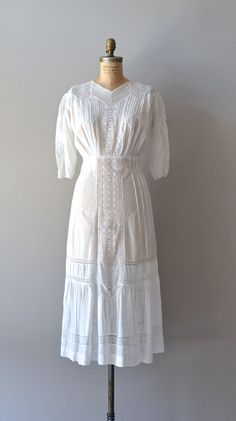 edwardian dress / 1910s wedding dress / Storybook by DearGolden,