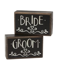Personalize the living space with a piece that shouts with character. These sentimental signs are designed to stand up on their own and create a handsome display on bookshelves or end tables to make any room feel special. Includes two signs4'' W x 2.5'' H x 1.5'' DWoodImported
