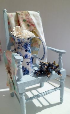 Ladies Ducky Blue Gardening Chair & Washing. £22.00, $36.33 via Etsy.