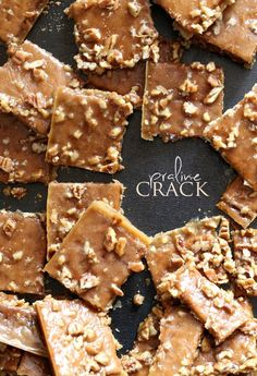 Ok, this stuff is ridiculous...Praline Crack is what I call it because there is no other name suitable. It's buttery, sugary, crunchy and chewy Praline Toffee/Bark. I had to expel it from my house immediately for fear I would eat the whole pan!! I'm sorry for the title of this recipe. I do understand crack isn't a joke. I get it. And honestly having never done crack, I can't compare, certainly. But I will say that if being crouched in the bathroom hiding from the world looking shifty and scared