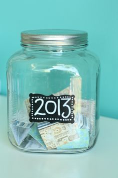 Memory Jar. put every good memory you get this year inn a jar, and memorize the good times of 2014 when the new year hits.