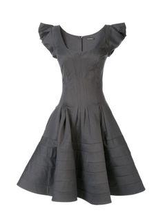 Cap Sleeve Fit Flare Dress