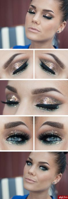 Glitter eyes! Love the eyes not the duck lips