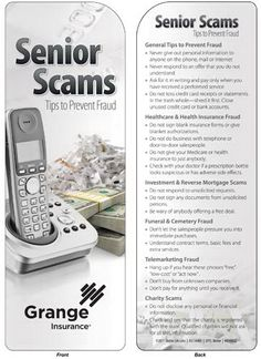 What an awesome idea this is! Bookmark - Senior Scams: Tips to Prevent Fraud The growing issue of scams targeting senior citizens is the focus of this informative bookmark. Includes tips on preventing fraud, different types of fraud and what to look out for. Double-sided, informative and durable,