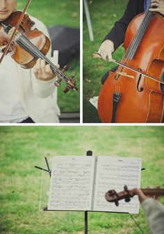 Violins and cello at my wedding. No other instrument touches my heart than the sound of a violin. Combined with a cello aw..simply enchanting