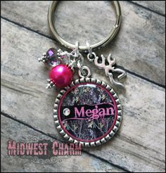 Camo Custom keychain...bottlecap accessories...bottlecap keychain..hunting girl gift...charm jewelry #Hunting  - Too cute!