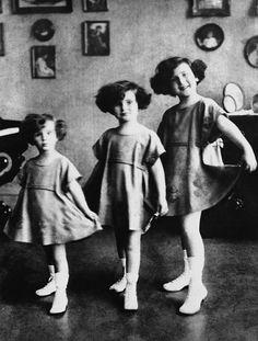 The Gabor sisters, Eva, Zsa Zsa, and Magda (l-r), 1923