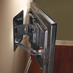 Hanging/swivel flat screen tv- Would be killer for a workout room!
