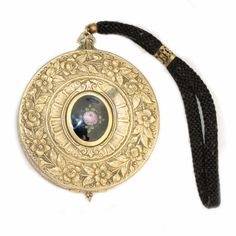 Beautiful Victorian dance compact in gold with by SeeingEyeToEye