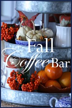 FALL COFFEE BAR Here's a great way to serve coffee to family and friends! stonegableblog.com