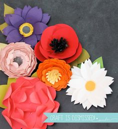 Easy Paper Punch Flowers - damask love